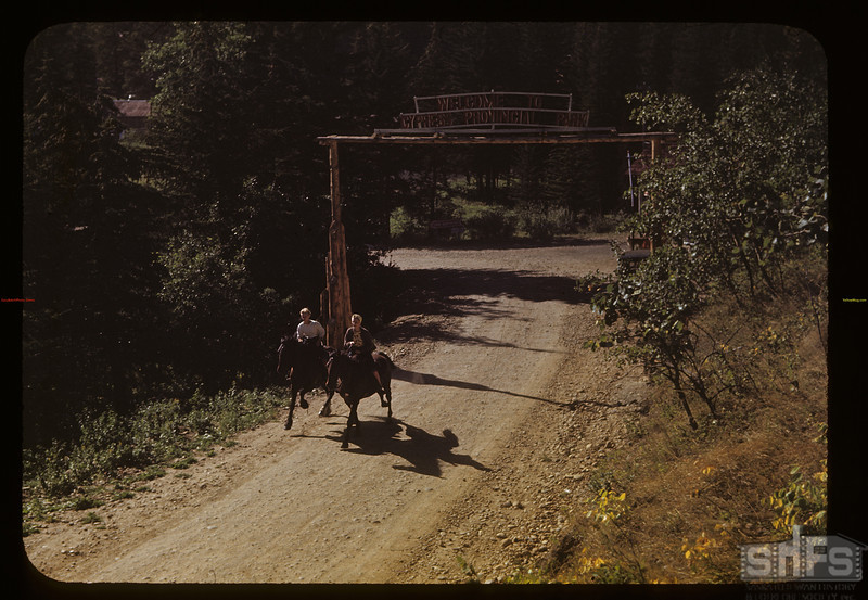 Jean and Lorrain Klaibert - horse back riding	. Cypress Hills. 08/26/1948