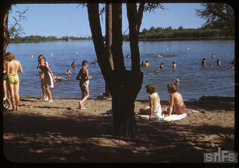 Swimming in Wascana Lake. Regina 07/26/1946