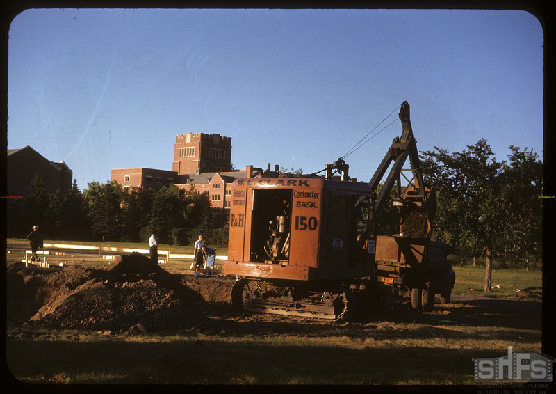Digging swimming pool in Wascana Park. Regina 07/14/1947