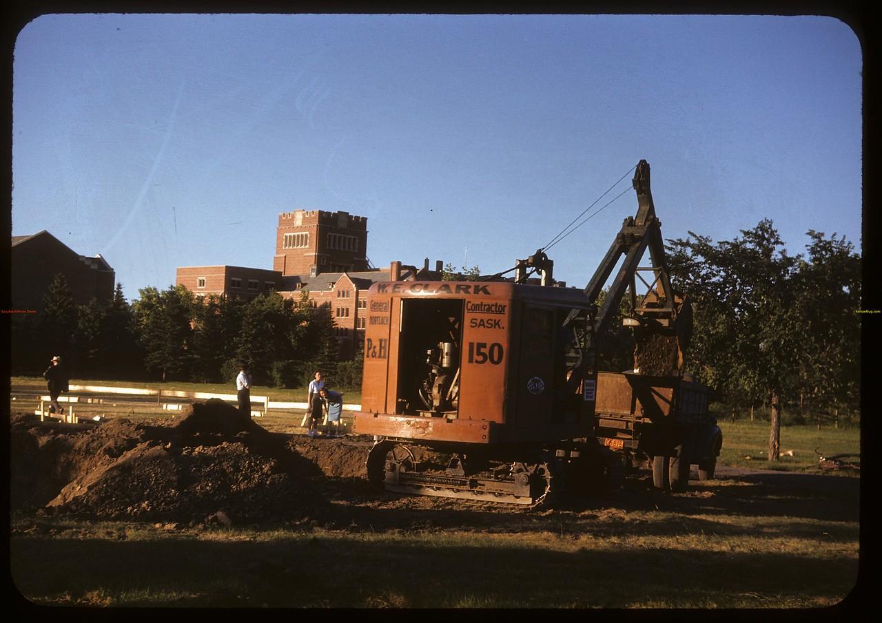 Digging swimming pool in Wascana Park. Regina 07/14/1947