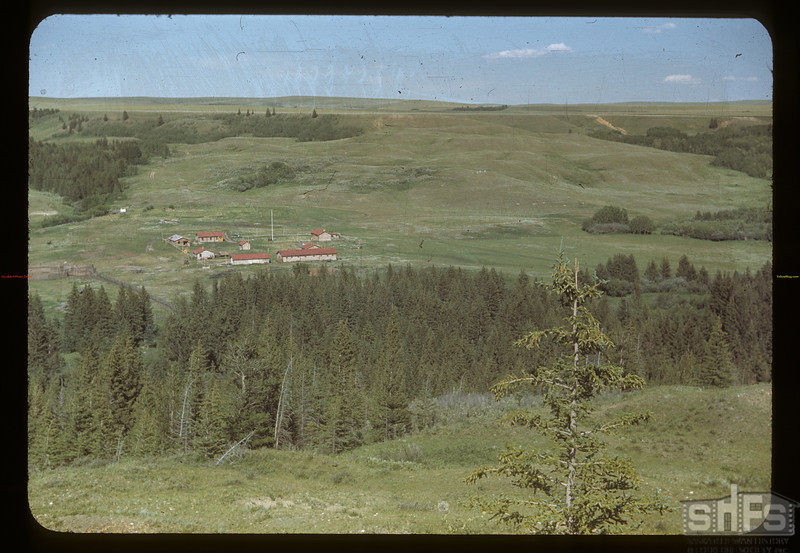 Reconstructed old Fort Walsh looking east. Maple Creek. 07/04/1948