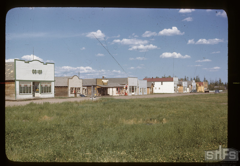 Railway Avenue and Co-op store. Choiceland.06/20/1946