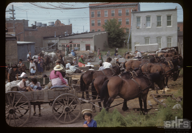 Indian rendezvous - the day after the fair. North Battleford. 08/09/1945