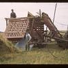 Barge stacker dropping stack. Girvin.  08/24/1943