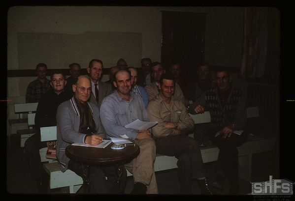 Elbow Co-op Association meeting. Elfros. 02/01/1963