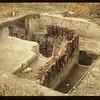 Exposed N.W. corner Carleton House Palasade. Fort Carleton. 09/12/1965