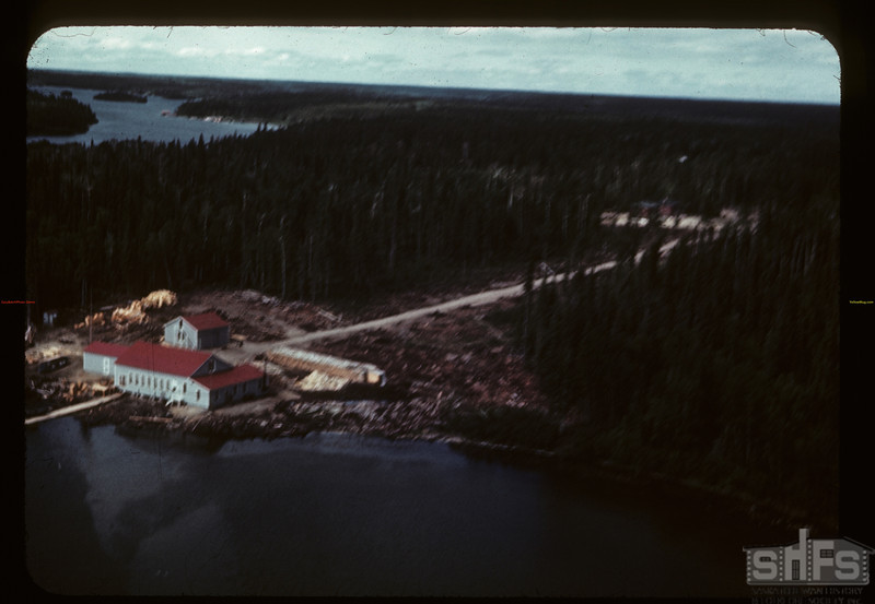 Beaver Lake Filleting plant - from the air. Beaver Lake. 06/21/1946