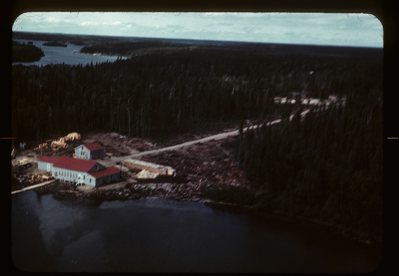 Beaver Lake Filleting plant - from the air. Beaver Lake. 06/21/1946
