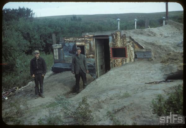 Mushroom venture east of Mortlach - Bob and Art Goldsney. Mortlach. 09/11/1954