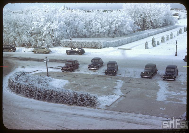 Legislative grounds from Premier's balcony. Regina 12/03/1945