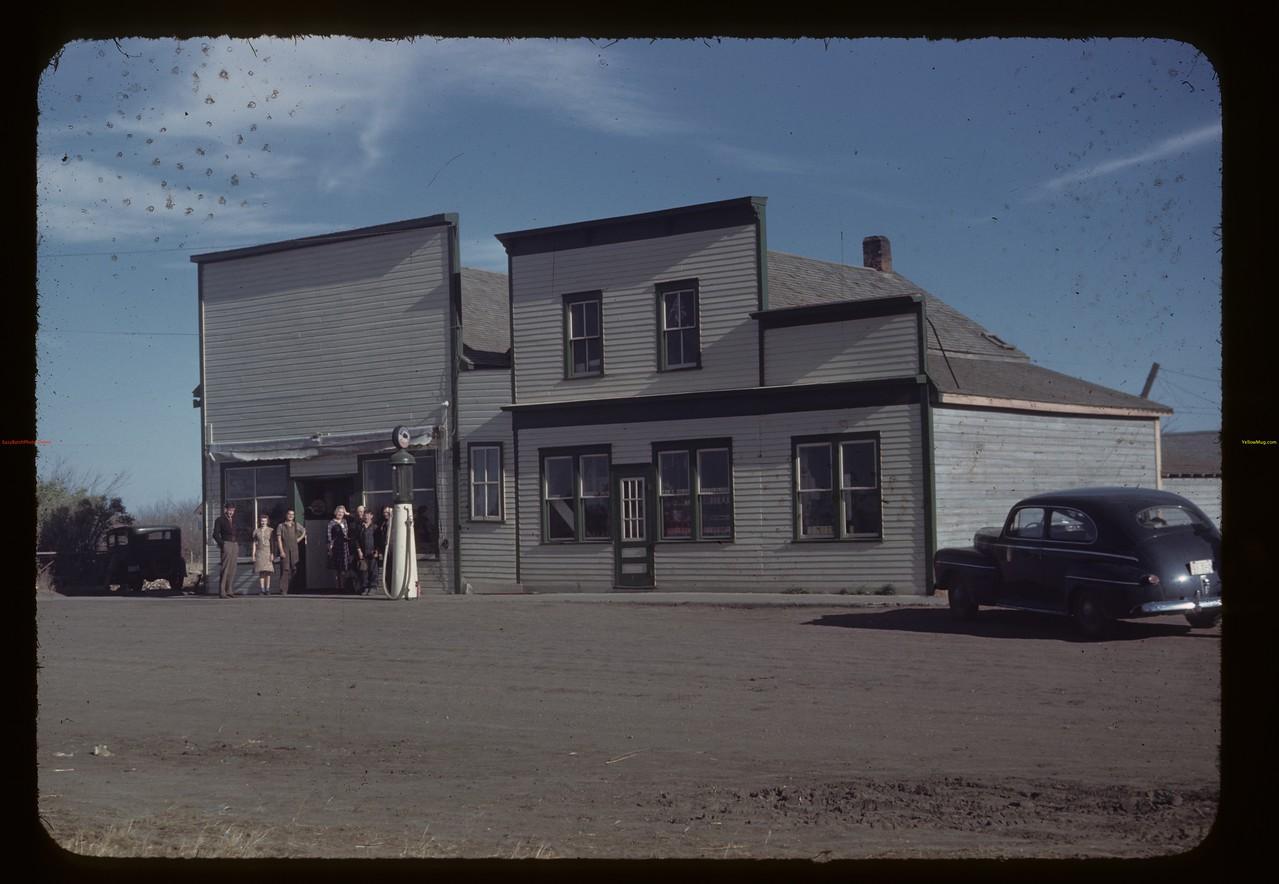 Carleton co-op store. Fort Carleton. 10/10/1945