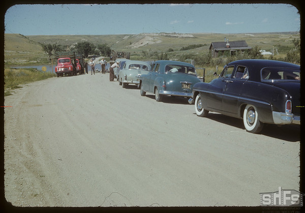 Swift Current Co-op school enroute to Matador Co-op farm. Sask. Landing 07/09/1952