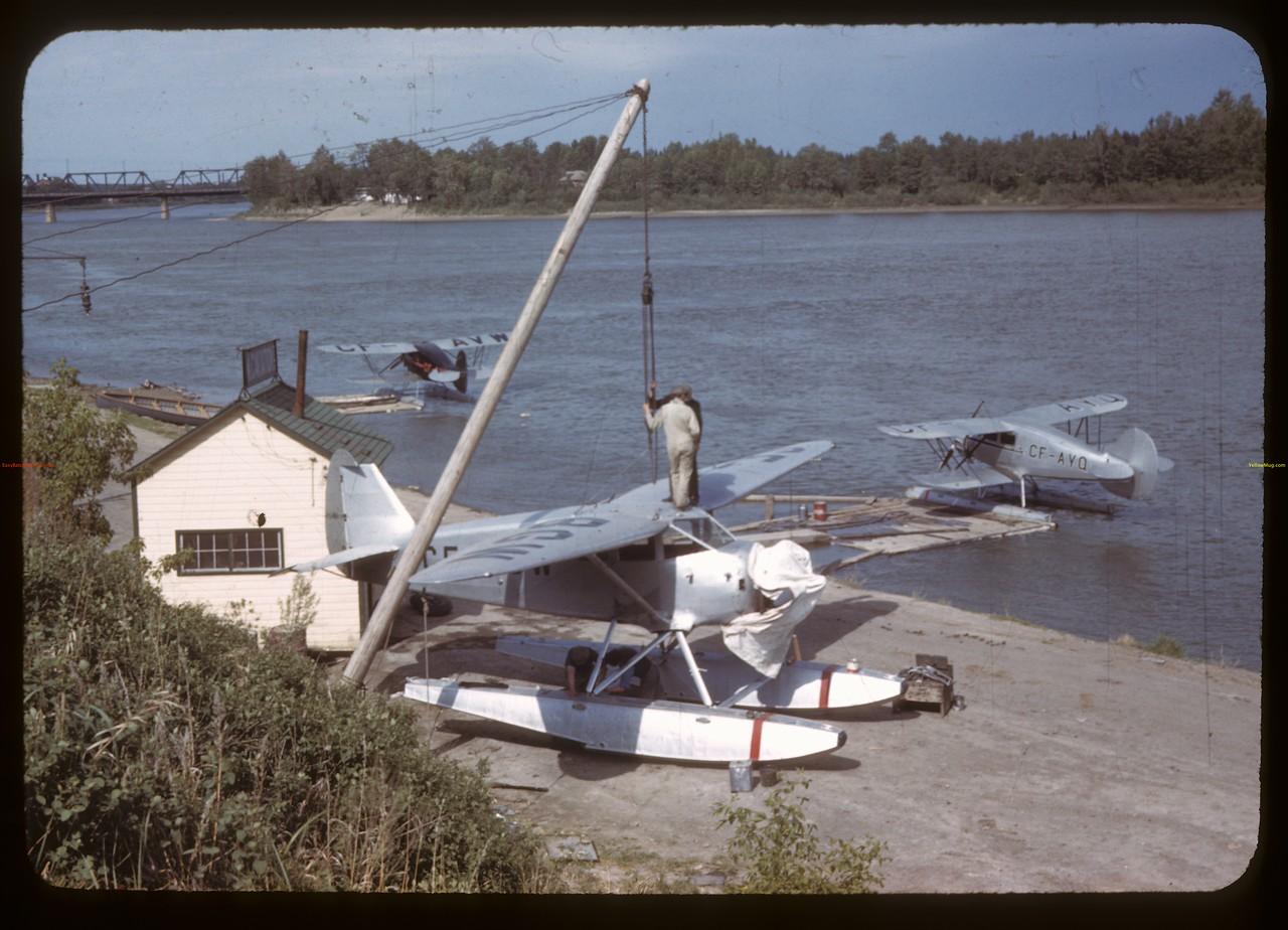 Pontoon plane on North Sask. River. Prince Albert 05/20/1944