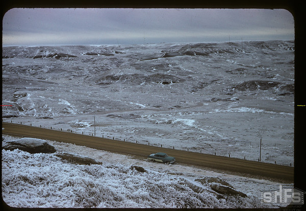 Highway 37 - looking SW at the White Mud. Climax. 01/28/1958