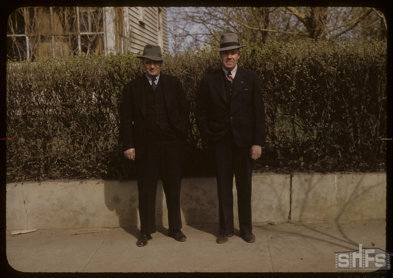 James McCuaig and Barney Arneson - 1272 George Street - North Battleford. 05/10/1942