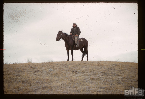 Johnny Hester - guarding cut - Reserve round-up. Maple Creek. 10/17/1960