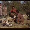 Frying bannock. Loon Lake.  06/09/1943
