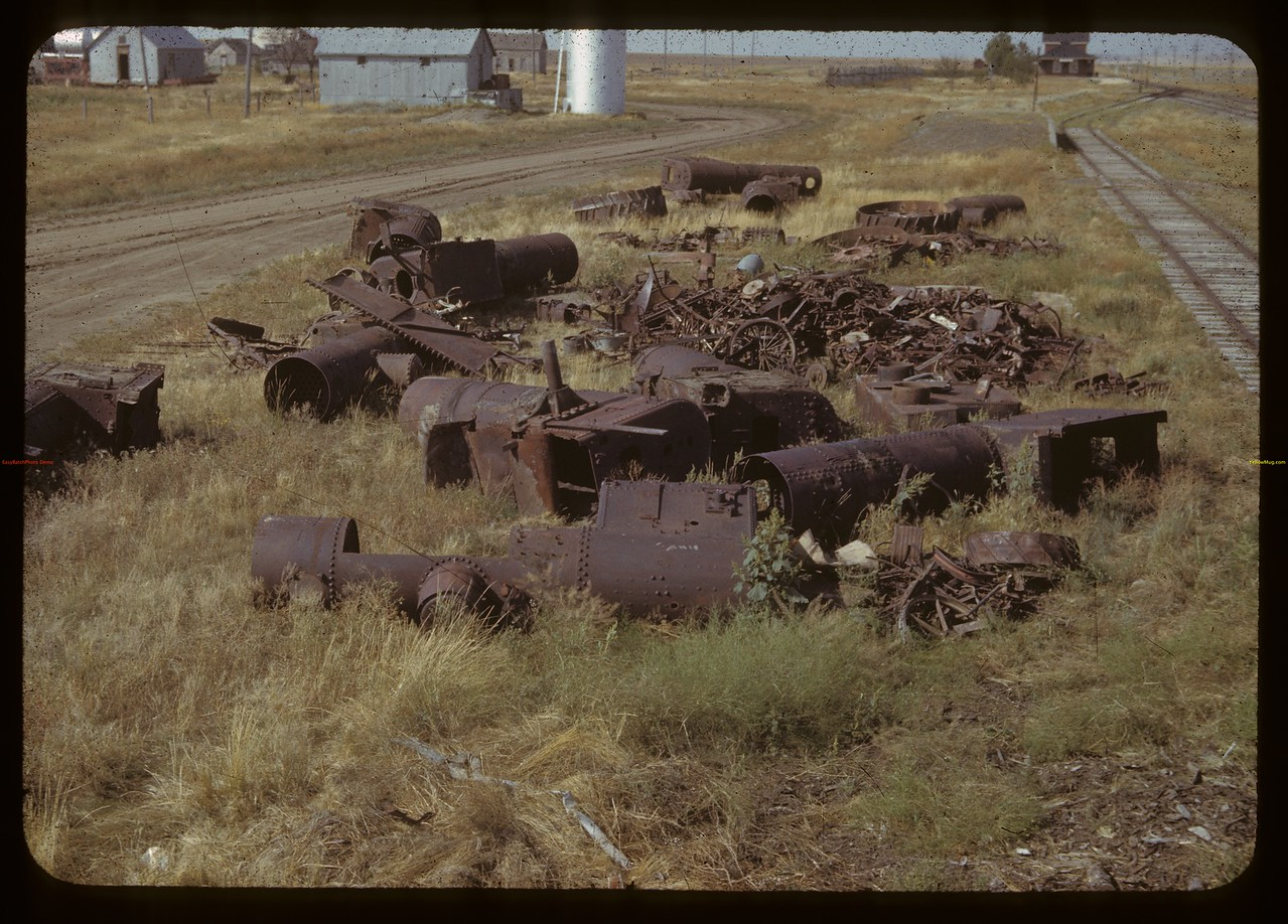 Steam boiler grave yard - found 13 boilers here - found 61 old boilers at Gainsborough three weeks later.  Gouveneur. 08/26/1942