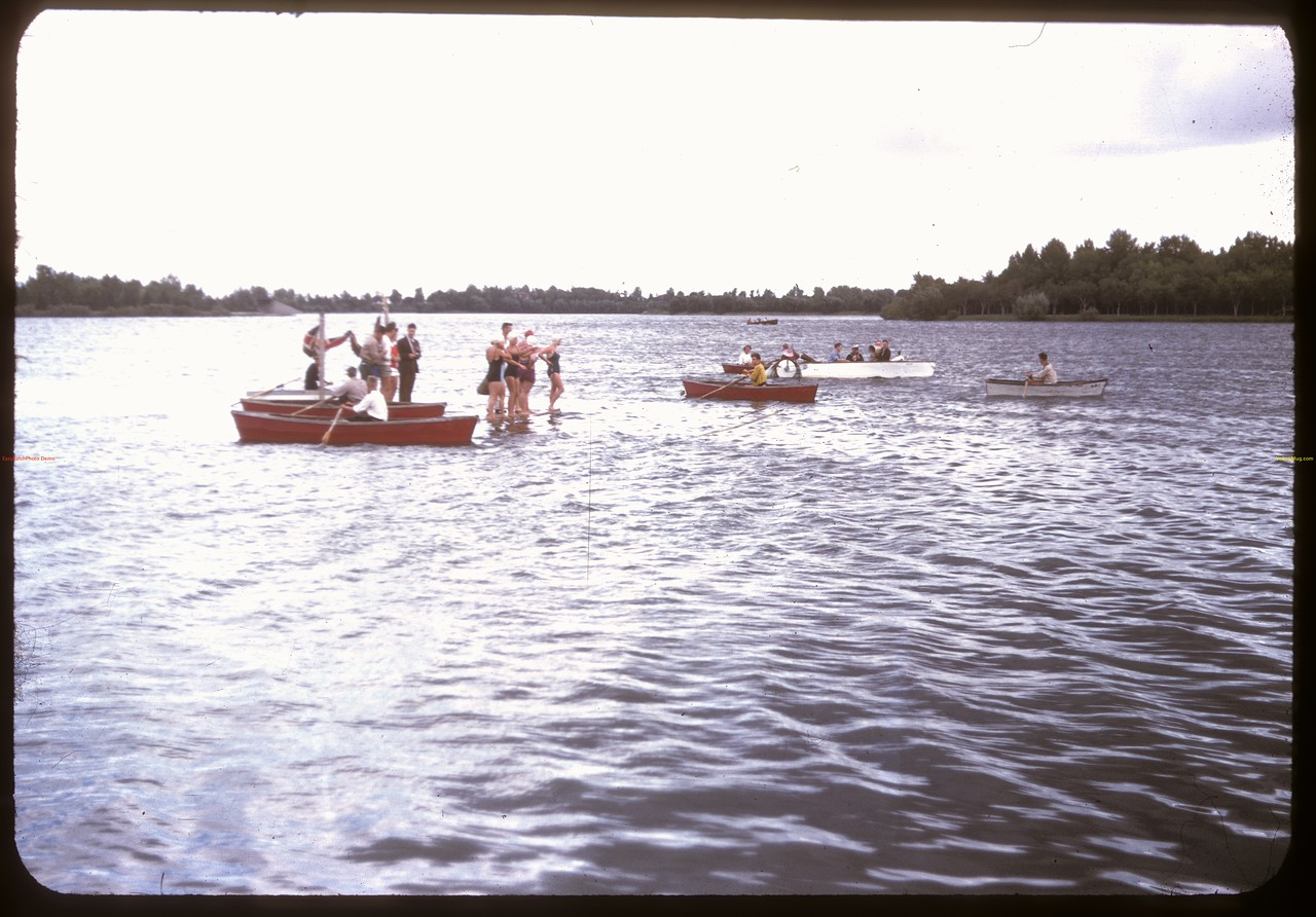 Ready to start the mile - Regina Boat Club swim meet. Regina 08/16/1947
