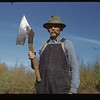 Polish Joe Mareski and old country broadaxe. Gronlid.  09/27/1946