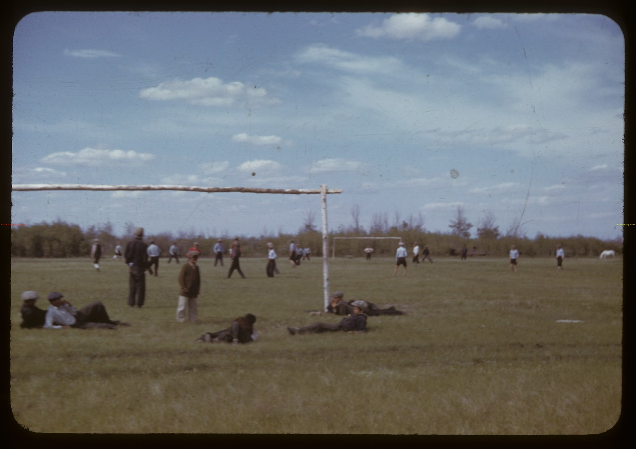 Indian Football. Sweetgrass Indian Reserve. 06/07/1942