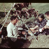 Bob Beaulac sharing Indian lunch - St. Laurant Pilgrimage. Duck Lake. 07/16/1944