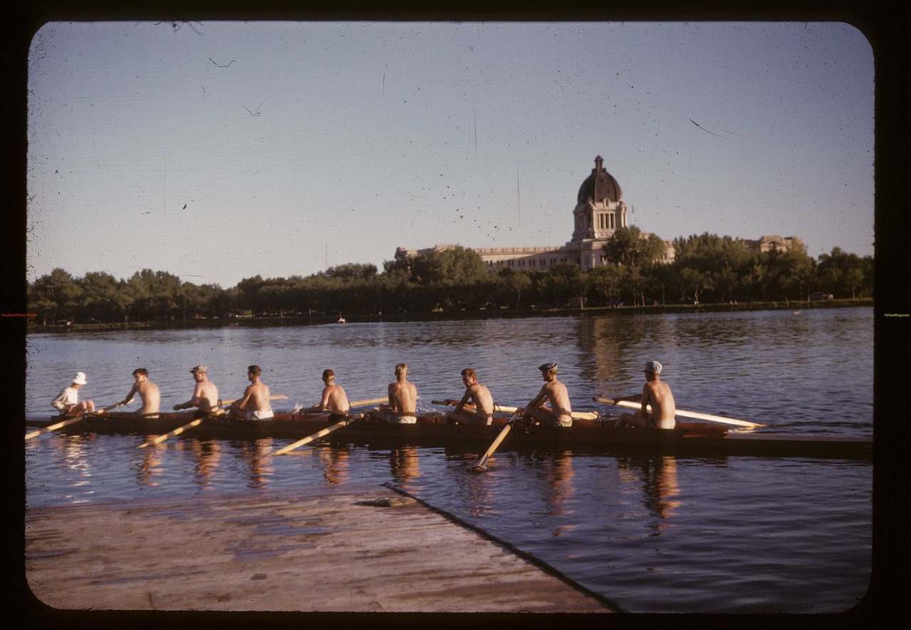 The H.E. Sampson - eight seater shell - Regina Boat Club. Regina. 07/02/1947.