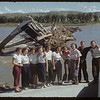 Swift Current Co-op School students at what was Sask. Landing Bridge. Sask. Landing 07/09/1952