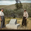 Reddy Parsonage & Everett Baker at NWMP - Cottonwood Coulee Detachment  1878 - 1885 marker.  Oxerat - Joe & Monty Wiley - Ilaf Wallis & David Brost. Maple Creek. 08/02/1960