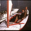 Dorice Brown and Bob Sharp - sailing on Wascana Lake Regina 08/16/1947