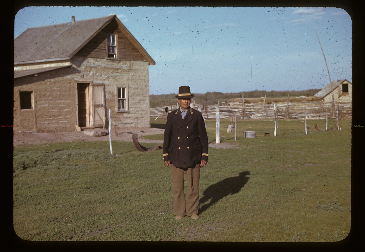 Chief Sam Swimmer. Sweetgrass Indian Reserve. 06/07/1942