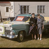 Jubilee parade - Mrs John Joffle & Mrs Norene Wigness [1955 Ford Fairlane Town Sedan]. Admiral. 08/05/1955