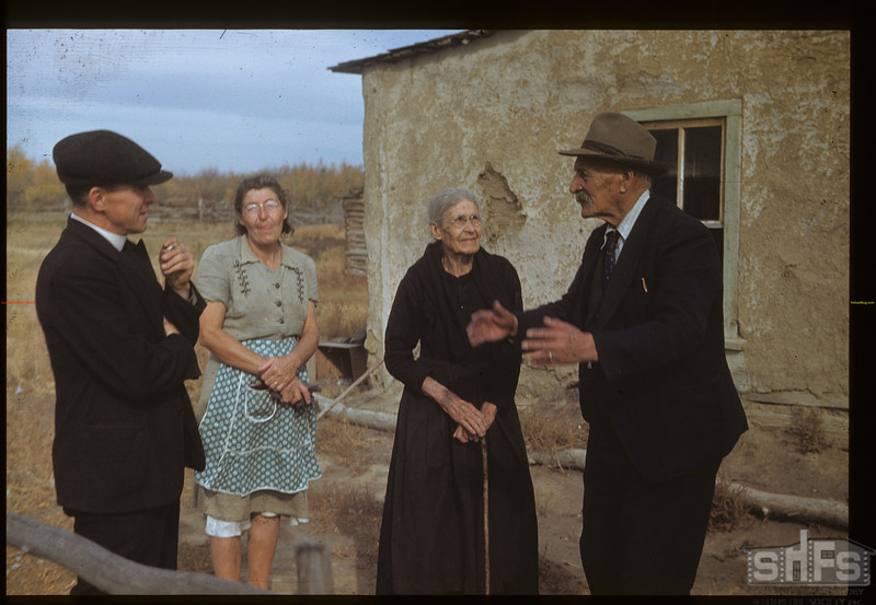 Old timers and old times - Charlie Trottier [he was a Captain for the Riel forces at Batoche]. Batoche. 10/04/1948