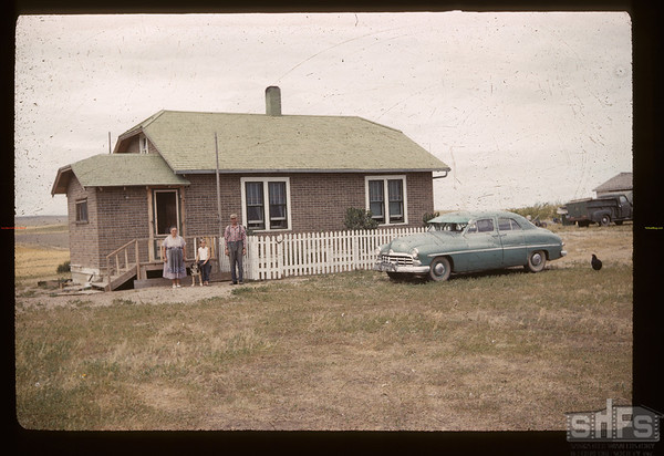 "From ""Mud House"" to this - Tony & Natalia Derringer. Mankota. 08/25/1960"