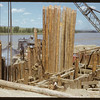 New bridge under construction. Sask. Landing 07/04/1950