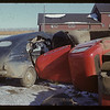 Collision - Richard and Bill Acker's oil truck - Orkney vs Ken Cave Hazenmore car. Hazenmore.  10/25/1951