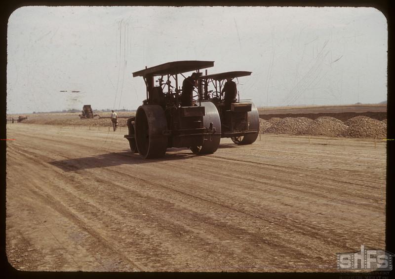 Steam rollers - beginning North Battleford airport.  09/02/1940