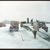 Harvesting ice from Wascana Lake [trucks are Capital Ice - owned by Regina's former  Mayor James Grassick]. Regina 02/21/1948