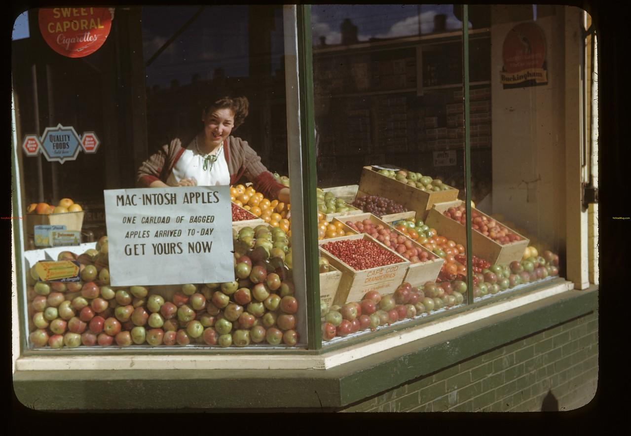 Melfort Co-op store window. Melfort. 09/28/1946