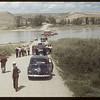 Swift Current Co-op school enroute to Matador Co-op farm. [Ferry operator was Frank Goodwin]. Sask. Landing 07/06/1949