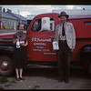 George & Mrs Farnworth with Admiral Co-op truck and products [wife's first name is Mary]. Admiral. 08/26/1950