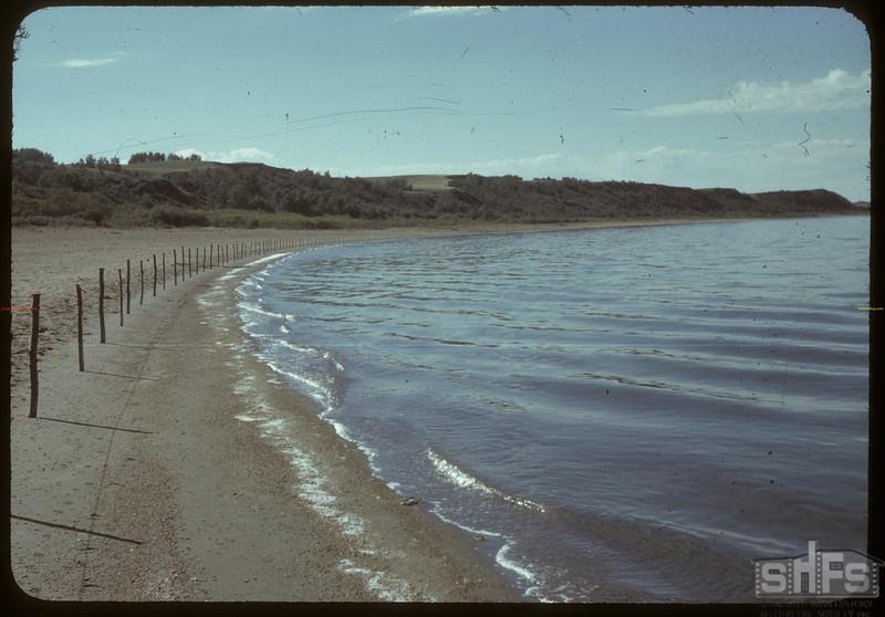 Manitou lake east beach. Neilburg. 08/19/1942