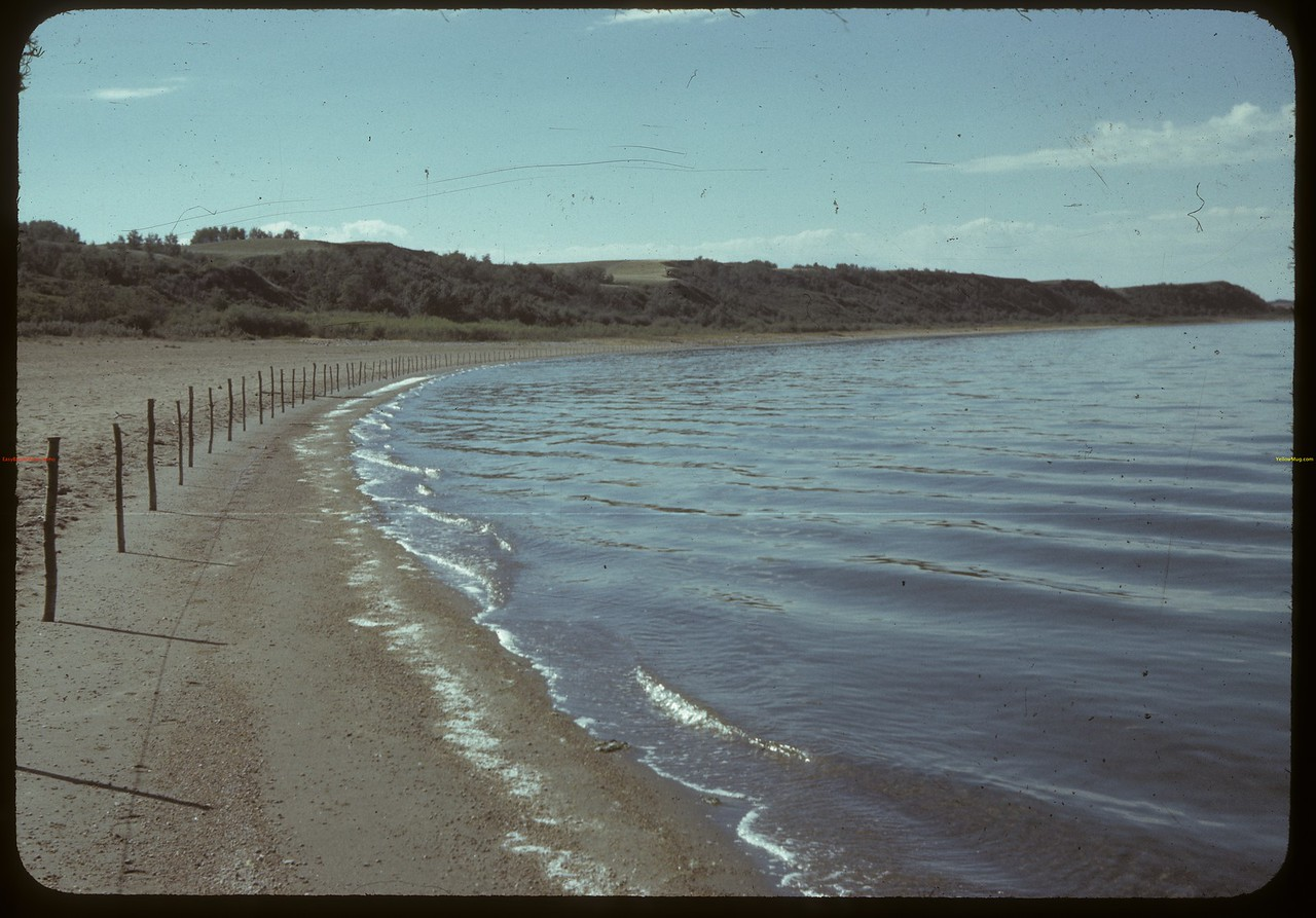 Manitou lake east beach. Neilburg. 08/19/1942