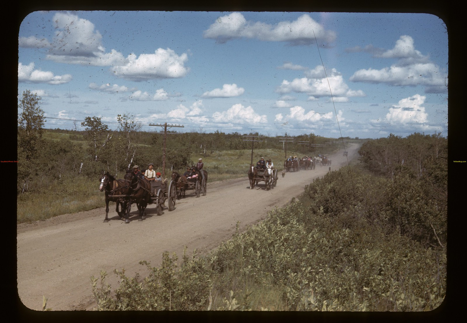 Indians returning from St. Laurant Pilgrimage. Duck Lake. 07/16/1944