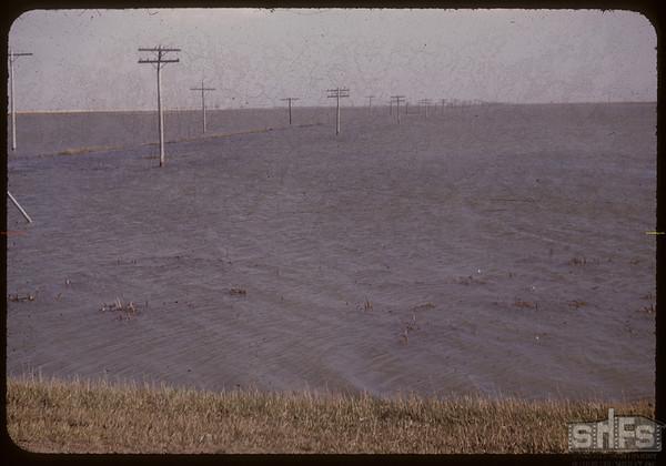 Flooding of Regina plains SW of Regina. Regina 05/16/1956