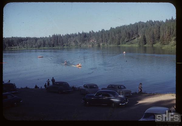 Water skiing on Cypress Lake. Cypress Hills. 07/18/1954