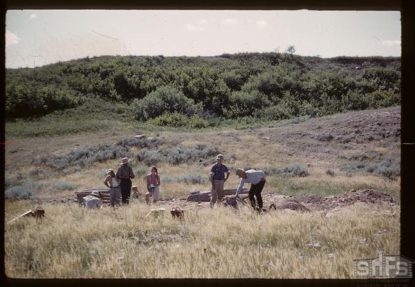 Bakken - Wright archaeological site - looking west.  Bracken. 07/17/1960