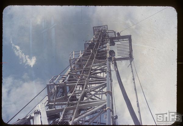 Oil drilling derrick. Dollard. 07/20/1954