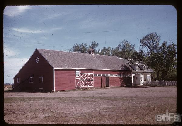 Mrs. Pete Martin - Mennonite house - Mrs. Martin's people (Chalmers) homesteaded here in 1903.  Clarksboro. 06/07/1959