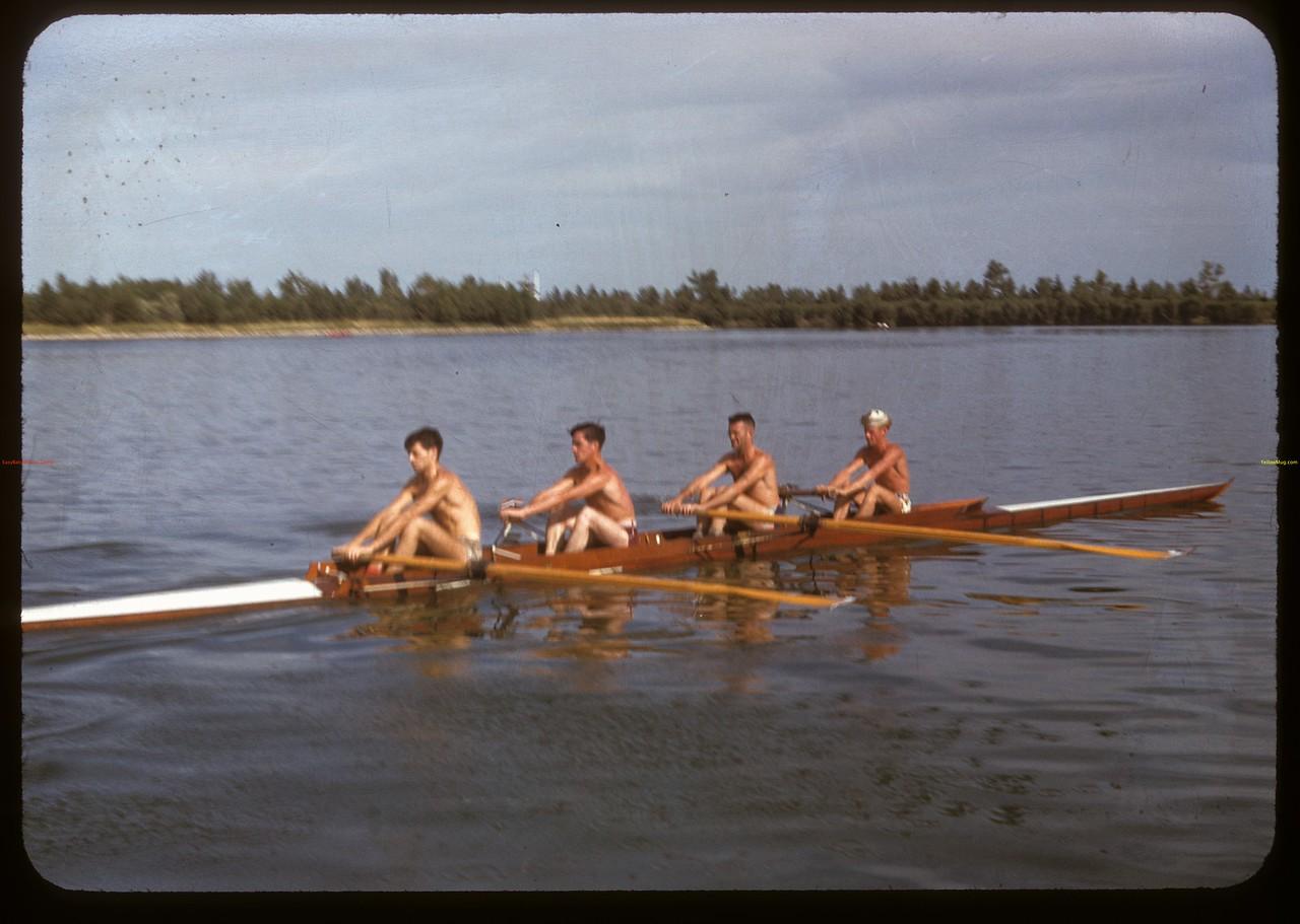 Four seater shell on Wascana Lake. Regina 08/03/1947